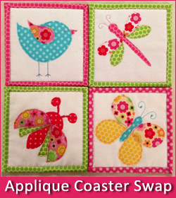 Applique Coasters Swap