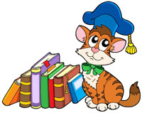 cat books school