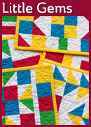 Little Gems � Pieced Mug Rugs