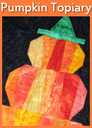 Pumpkin Topiary Mini Quilt