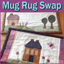 Neighbours and Friends Live Here Mug Rug Swap