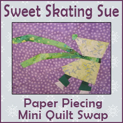 Sweet Skating Sue Mini Quilt Swap