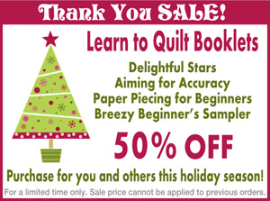 Learn to Quilt Booklets