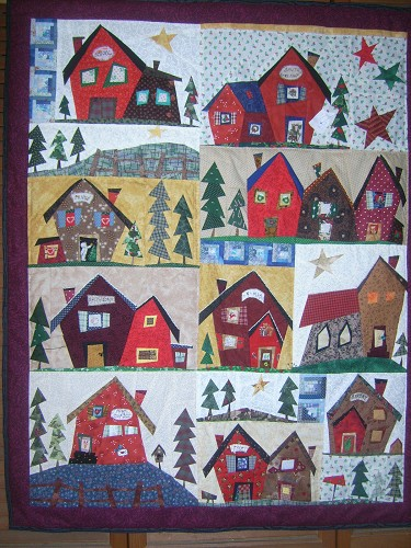 Paper Pieced Quilts - Quilting Gallery : village quilts - Adamdwight.com