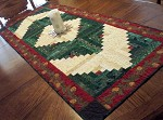 Log Cabin Christmas Table Runner