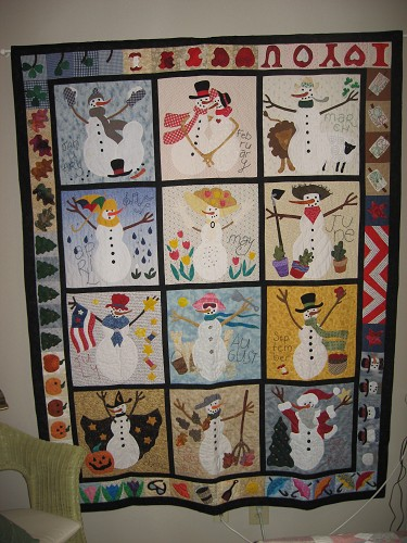 Snowmen Quilts - Quilting Gallery /Quilting Gallery : snowman quilt pattern - Adamdwight.com
