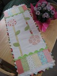 Petite Points Flowers Table Runner