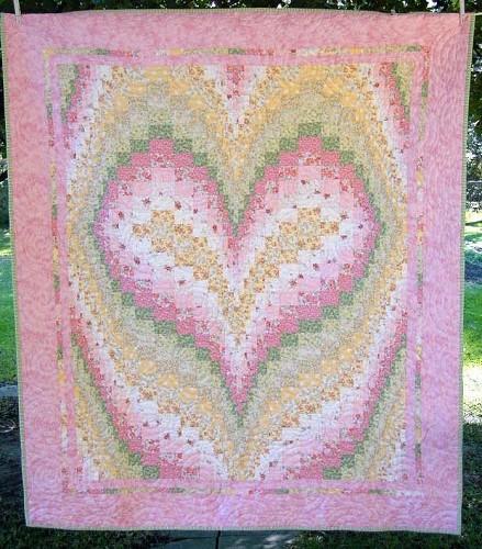 Heart Bargello Free Quilt Pattern