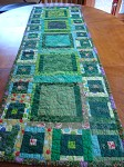 going green table runner
