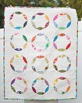 Mod Circles Scrappy Baby Quilt