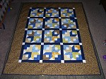 Blue and Yellow Wedding Quilt