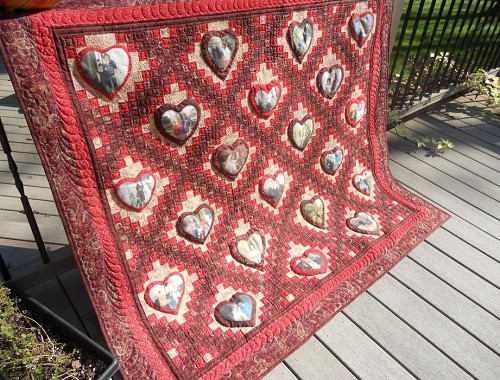 Ruby Red Anniversary Quilt
