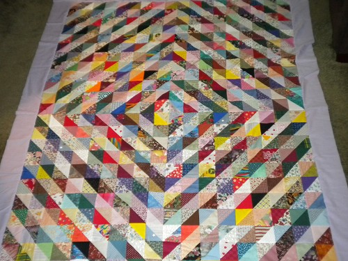 Scrappy Triangle Quilts - Quilting Gallery : half square triangle quilt - Adamdwight.com
