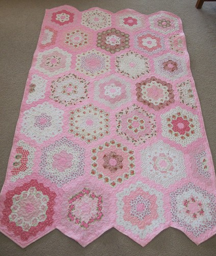 Hexagons And Other English Paper Pieced Quilts Quilting