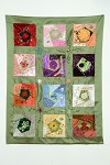Crazy Quilted Flower Quilt