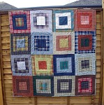 Dad's Shirts Log Cabin quilt