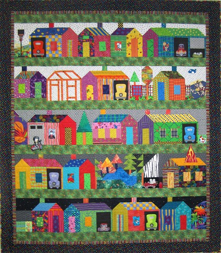 Free Quilt Patterns Of Houses : Buildings & Houses Quilt Contest - Quilting Gallery /Quilting Gallery
