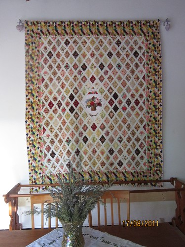 Jane Austen's Coverlet (replica) (not eligible to win)
