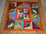 Oak Leaves and Acorn Batik Quilt