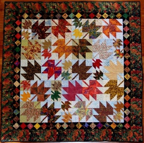Fall's Glory Quilt Contest - Quilting Gallery /Quilting Gallery : leaf quilts - Adamdwight.com