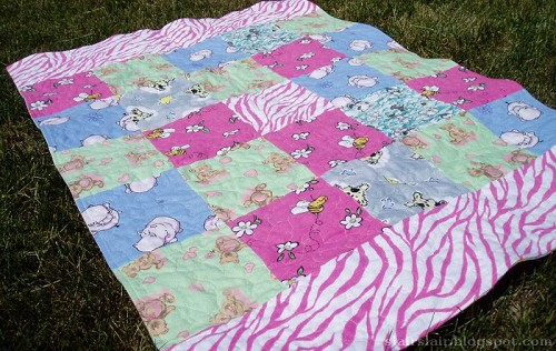 Loopy Care Bears Blanket