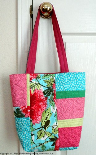 Floral Patchwork Quilted Bag