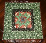 Christmas Star Reversible Mini Quilt