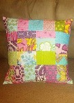 Scrappy Quilt-As-You-Go Pillow