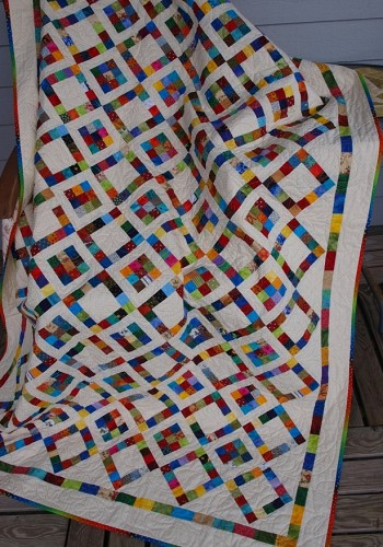 1x1inch scrappy quilt