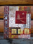 Quilted scrapbook cover