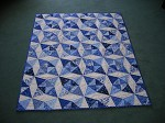 Blue & White Kaleidoscope Quilt