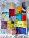 Kid's drawing baby quilt