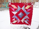 Diamond Star Layer Cake Quilt