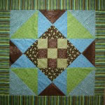 Nine-Patch Star Baby Quilt