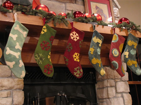 Stockings on Fireplace