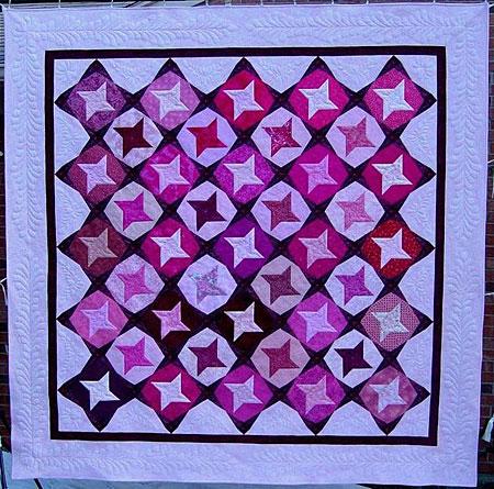 Boomerang – pink – quilt