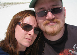 Me with my hubby Eli, in White Sands, NM