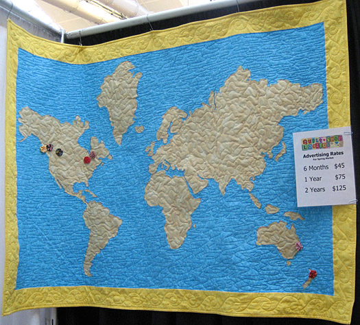 World Map Quilt