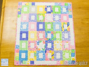 Ice Cubes Baby Quilt