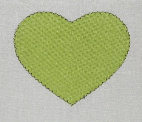 Applique stitching example