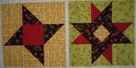 Summer Star Sampler blocks-3-4