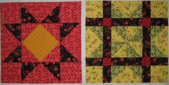 Summer Star Sampler blocks-5-6