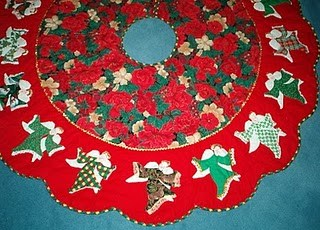 how to make patchwork christmas tree skirt