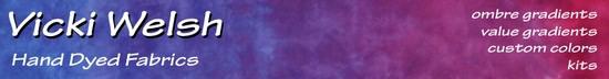 Vicki Welsh - Hand Dyed Fabrics