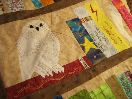 jennifer ofenstein - harry potter quilt close-up