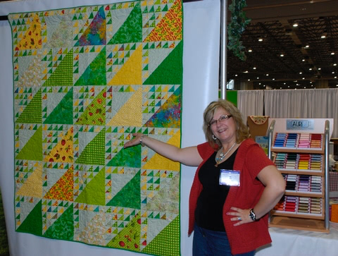 Pat Sloan orchard park in Aurifil booth