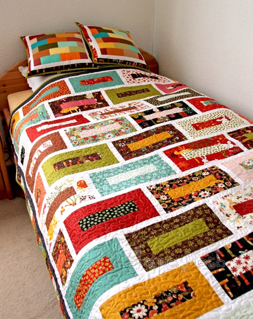 brick wall quilt finished