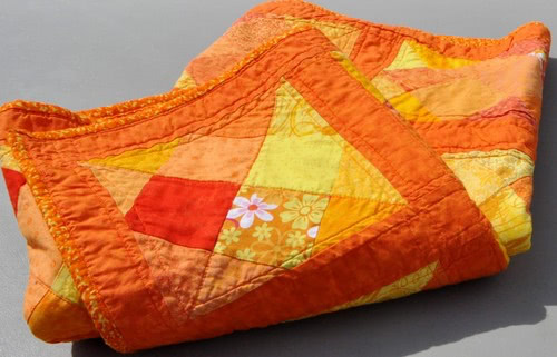 orange quilt