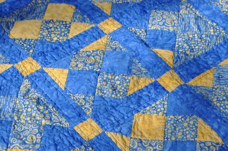 blue quilt
