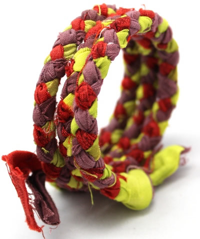 Braided Fabric Wrap Bracelet